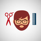 Barber shop design. Illustration eps10 graphic Stock Image