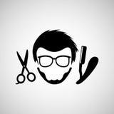 Barber shop design. Illustration eps10 graphic Stock Photography