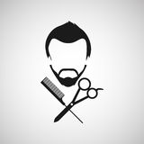 Barber shop design. Illustration eps10 graphic Royalty Free Stock Image