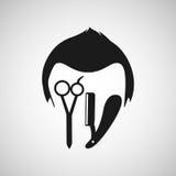 Barber shop design. Illustration eps10 graphic Stock Images