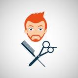 Barber shop design. Illustration eps10 graphic Royalty Free Stock Photo