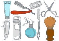 Barber Shop Elements tirée par la main Image libre de droits