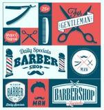 Barber Shop eller frisörtecken Fotografering för Bildbyråer