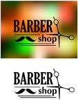 Barber shop emblem Royalty Free Stock Image