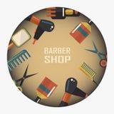 Barber shop emblem Stock Photo