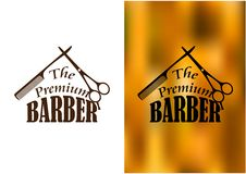 Barber shop emblem Royalty Free Stock Photo