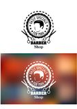 Barber shop emblem or sign Stock Images