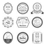 Barber Shop Emblems Lizenzfreie Stockfotografie