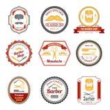 Barber Shop Emblems Colored Lizenzfreie Stockfotografie