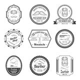 Barber Shop Emblems Royalty Free Stock Photography