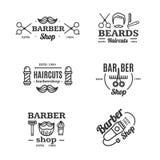 Barber Shop Emblems Set Vecteur Images libres de droits