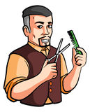 Barber shop. Eps 10 illustration Design royalty free illustration
