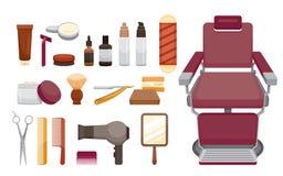 Barber Shop Equipments Set Images stock