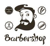 Barber Shop-Gestaltungselemente Lizenzfreie Stockfotografie