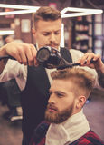At the barber shop Royalty Free Stock Images