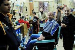 Barber shop in Hebron. Market Royalty Free Stock Image