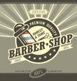 Barber shop hipster vintage sign template. Barbershop retro poster. vector illustration