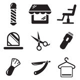 Barber Shop Icons Lizenzfreies Stockfoto