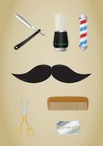 Barber Shop icons set Stock Photo