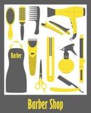 Barber Shop icons set Royalty Free Stock Image