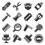 Barber Shop Icons Set Royalty Free Stock Images