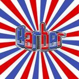 Barber shop illustration background Stock Images