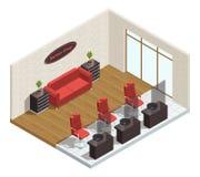 Barber Shop Isometric Interior Image stock