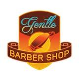Barber shop label or badge Royalty Free Stock Images