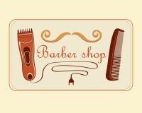 Barber Shop Label d'annata Fotografia Stock Libera da Diritti