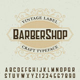 Barber Shop Label Font Poster Image stock