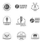 Barber Shop Label Set Fotografia Stock