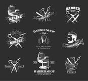 Barber Shop Labels Illustration Libre de Droits