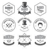 Barber Shop Labels Lizenzfreies Stockbild