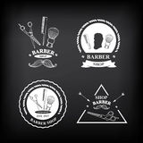 Barber shop labels,vector icons. Stock Photo