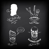 Barber shop labels,vector icons. Stock Image