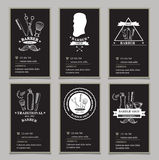 Barber shop labels,vector icons. Stock Photography