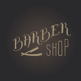 Barber shop lettering. Hand draw lettering in vector. Barber shop modern  calligraphy in vintage style. Best for barbershops, chalk board, print design, web, t Stock Photos