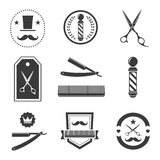 Barber shop logo, labels, badges vintage Stock Photo