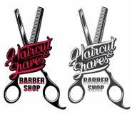 Barber shop logo Royalty Free Stock Image