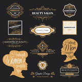Barber shop logo. Vector set of retro barber shop labels, logo, badges and design element vector illustration