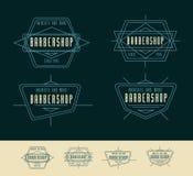 Barber Shop Logo Vintage Logo Design royalty free illustration
