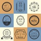 Barber Shop Logos Stockfotos