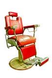 Barber Shop mit altmodischem Chrome-Stuhl Lizenzfreie Stockbilder