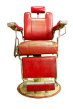 Barber Shop mit altmodischem Chrome-Stuhl Stockfoto