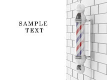 Barber shop pole Royalty Free Stock Image