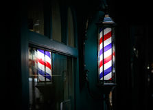 Barber shop pole Royalty Free Stock Photography