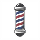 Barber Shop Pole. Isolated on a White Background stock illustration