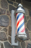 Barber shop pole red blue and white strip sign Royalty Free Stock Photography