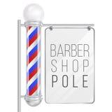Barber Shop Pole Vector Gut für Design, Branding, Werbung Raum für Ihre Werbung Lokalisiert auf Weiß lizenzfreie abbildung