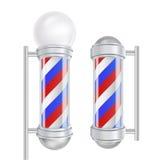 Barber Shop Pole Vector Rayures rouges, bleues, blanches Bon pour la conception, marquage à chaud, faisant de la publicité Illust Photo libre de droits